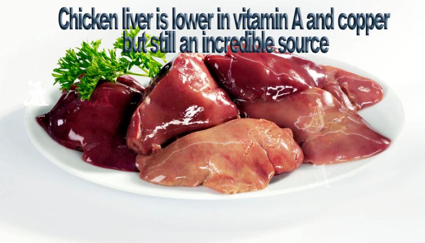 Chicken liver is relatively mild