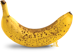 Brown spots in a banana are signs of TNF