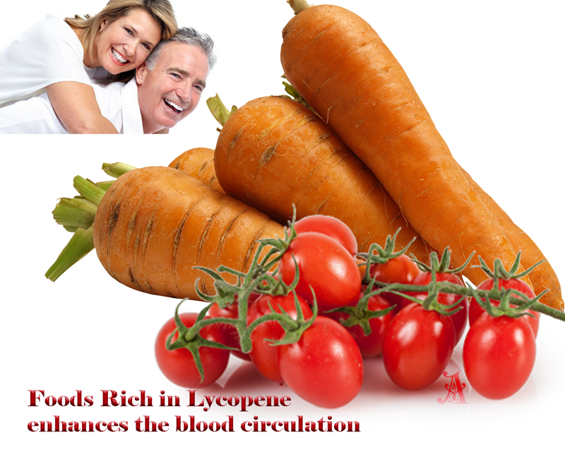 Red colored foods are Rich in Lycopene
