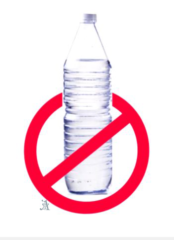 Avoid plastic bottled water
